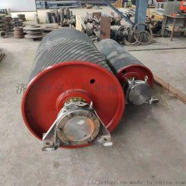 胶带输送机传动滚筒大全 包胶传动滚筒