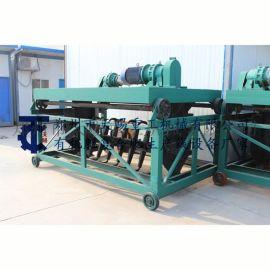 新疆有机肥生产线设备 液压翻堆机 槽式翻抛机