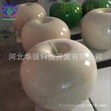 廠家直銷供應玻璃鋼水果雕塑模擬彩繪蘋果雕塑 果園園林景觀擺件