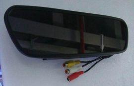 供应5寸后视显示器镜/5寸倒车镜/2路视频输入/倒车优先/全新