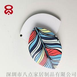 促銷禮品定制logo木質熱升華轉印燙畫鑰匙扣掛飾