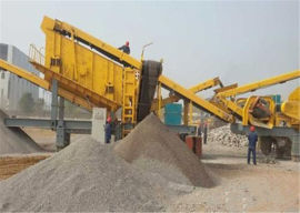 移动破碎站 矿山设备车载砂石料制沙生产线