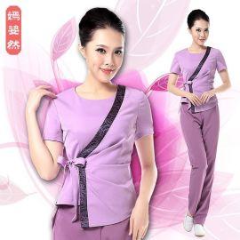 春夏新款中式美容顾问服装 美容院顾问工作服套装 d036 k015