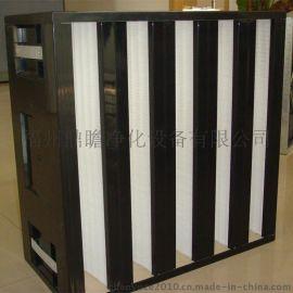 厂家供应鼎瞻净化空气过滤器 V型大风量高效过滤器 初中高效率