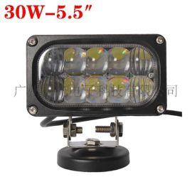 30W透镜射灯 科瑞LED工作灯 聚光汽车越野车改装强光照明灯探照灯