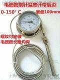双金属温度计毛细管带后边0-150度