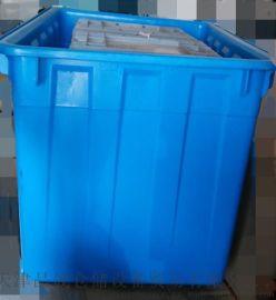 批发300L食品级塑料水箱 300kg水产养殖塑胶鱼桶方形水箱