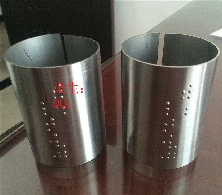 定做優質不鏽鋼盲文扶手導向牌 盲人專用凸點不鏽鋼盲文管加工