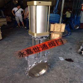 温州厂家生产DN300气动不锈钢刀闸阀