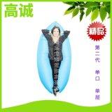 歐美單口充氣睡袋TPU戶外速充便攜沙發單層懶人加厚戶外家用氣牀