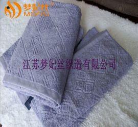 厂家直销 提花配套毛巾 螺旋染色提花毛巾 16支纱全棉染色毛巾