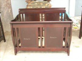 外贸原单高品质实木婴儿床实用