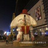 玻璃钢狗年雕塑吉祥物 厂家定制玻璃钢动物雕塑 商业美陈商场装饰