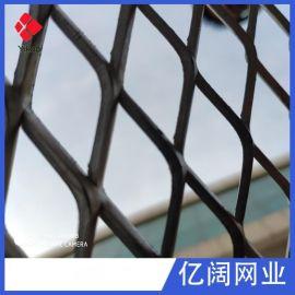 菱形钢板网钢板拉伸网防滑脚踏机械防护建筑装饰隔离钢板网片