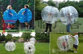 广州大型游戏活动充气气球 草地悠波球水上滚筒 圆形碰碰球
