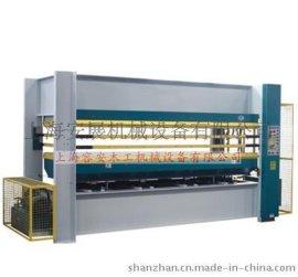 上海热压机厂家、常熟木工板材热压机、自动贴面热压生产线、