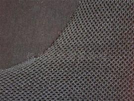 深圳针织布复合加工厂家 400g黑色三明治网布复合200g黑色针织布