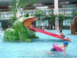 青蛙滑梯_喷水小品_儿童戏水池_水上乐园设备