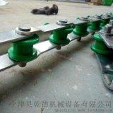 旋转小火锅输送链条 尼龙滚珠链条 双节距76.2