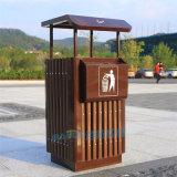 景区垃圾桶定制室外垃圾桶双桶小区钢木分类垃圾箱厂家