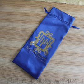 2016新款黑色礼品包装纱袋色丁布束口首饰袋印刷定制 纱布袋 批发