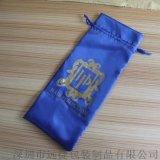 2016新款黑色禮品包裝紗袋色丁布束口首飾袋印刷定製 紗布袋 批發