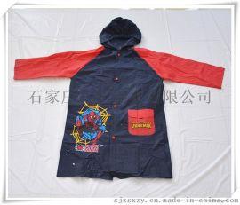 男童背包PVC雨衣,儿童卡通logo雨衣