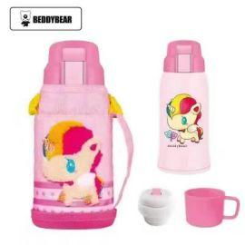 新款儿童保温杯韩国杯具熊儿童大肚真空保温杯微商品批发招代理