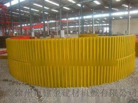 厂家直供球磨机大齿轮900-3600规格对开式球磨机大齿轮