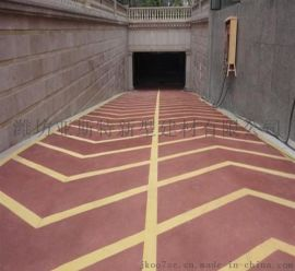 潍坊青州 地下车库无震动止滑车道 道路止滑地坪 防滑车道地面施工工艺