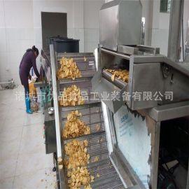 商用自动油炸流水线 厂家直销双网带薯片油炸线