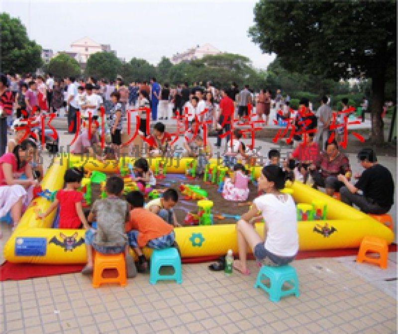 河南充氣沙灘池還有多種沙灘玩具設備