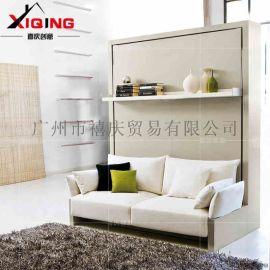 创意多功能单人折叠床客厅家具连体沙发墨菲床隐形床壁床