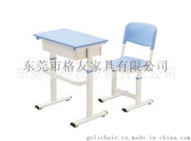 广东**学生升降课桌椅,单人课桌椅厂家
