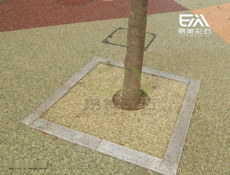胶粘石石子 彩色胶彩石透水地坪专用