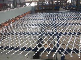 焊接型刀片刺网排焊机护栏菱形网焊接设备