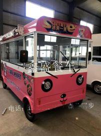 多功能移动餐饮烧烤车  多功能小吃车