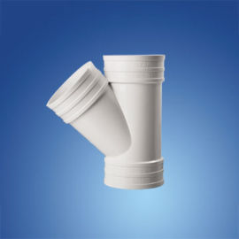 中塑pvc斜三通 45度斜三通  PVC斜三通管件