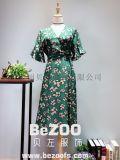 歐韓風格2018新款連衣裙,品牌女裝實體店拿貨貨源