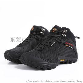 麦乐 男女情侣款高帮加绒防水防滑登山鞋冬季保暖户外运动鞋