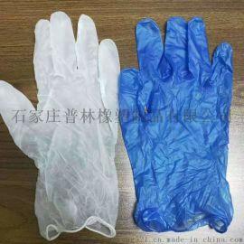 蓝色PVC手套一次性家用食品级电子检查实验室