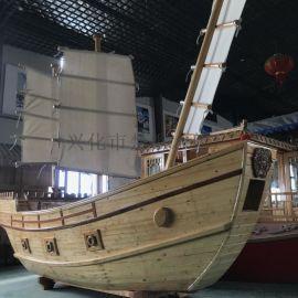 现货出售3米户外景观道具船装饰船海盗木船厂家