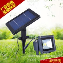 AE照明太阳能灯投射灯泛光灯家用庭院灯户外防水led投光灯