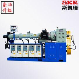 PE PVC塑料造粒机 风冷热切挤出机 PE PVC塑料双螺杆挤出机