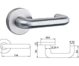 美标精铸不锈钢把手(防火)(L28080)