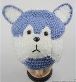 厂家生产批发针织动物毛线帽子儿童卡通帽子无檐便装保暖帽子-哈士奇帽子