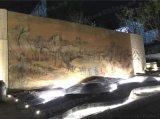 青花瓷典 園林景觀大型山水陶瓷壁畫背景牆