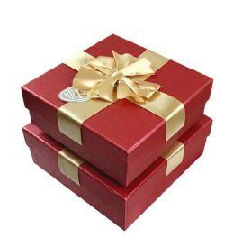 礼品盒包装盒礼物盒 韩版低调灰盖铁黑底长方形商务礼盒