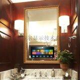 酒店浴室18.5寸带边框镜面防水智能液晶电视