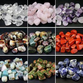 德艺 天然水晶杂石半宝石不规则碎石不定形 消磁石 鱼缸石